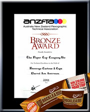 "TPCC proudly won ANZFTA Top Award in ""Beverage Cartons & Cups Halftone"" in 2010 - HighlyCommended_TakeTheExpressoRout12oz"